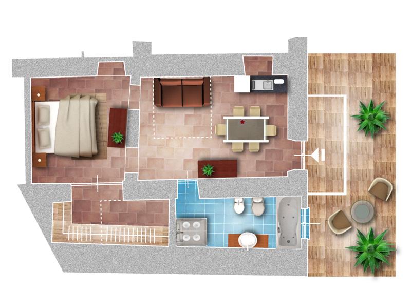 appartamenti vacanze full relax in liguria a prezzi incredibili!! - Soggiorno Piccolo Con Angolo Cottura